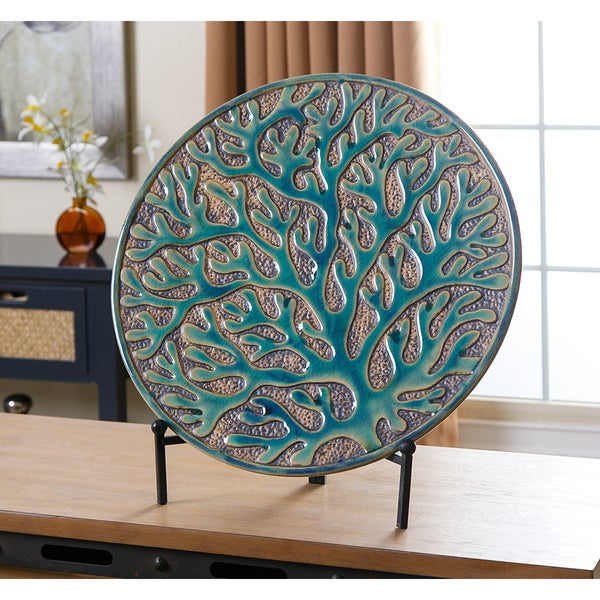 abbyson living coral charger plate with stand 18051252 overstock