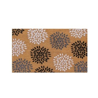 First Impression Vinson Coir Entry Flocked Doormat, Large Size (24 x 36)