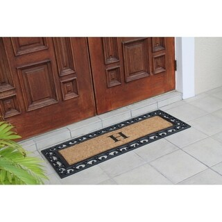 First Impression Exclusive Hand Crafted Myla Monogrammed Entry Doormat, Large Double Door Size (17.7 x 47.25)