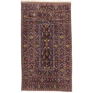 ecarpetgallery Royal Baluch Blue/ Brown Wool Rug (4'8 x 8'2)