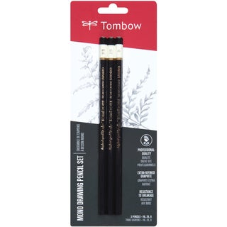 Tombow MONO Drawing Pencil Assorted Degrees Graphite (Pack of 3)