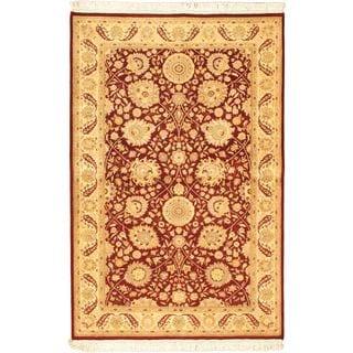 ecarpetgallery Pako Persian 18/20 Beige/ Red Wool Rug (4'9 x 7'3)