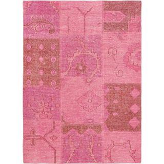 ecarpetgallery Ushak Patch Pink Wool Rug (4'9 x 6'6)