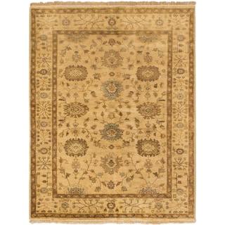 ecarpetgallery Royal Ushak Yellow Wool Rug (4'10 x 6'3)
