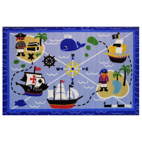 "Buried Treasures Area Rug 19"" x 29"""