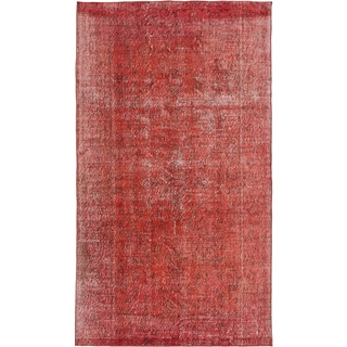 ecarpetgallery Color Transition Red Wool Rug (4'9 x 8'6)