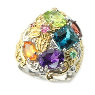 One-of-a-kind Michael Valitutti Multi-Gem Flower Ring
