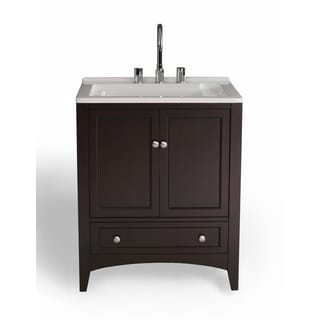 27 inch Espresso Laundry Single Sink Vanity
