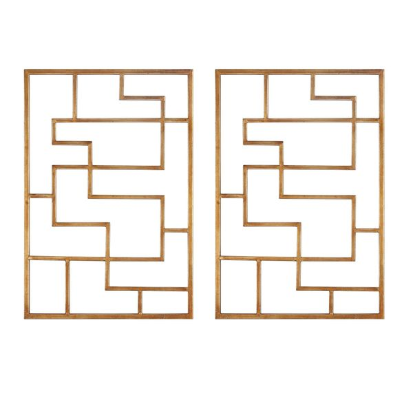 Quaid Gold Wall Art (Set of 2)