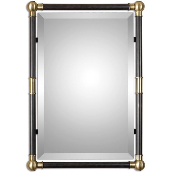 Rondure Bronze Metal Wall Mirror
