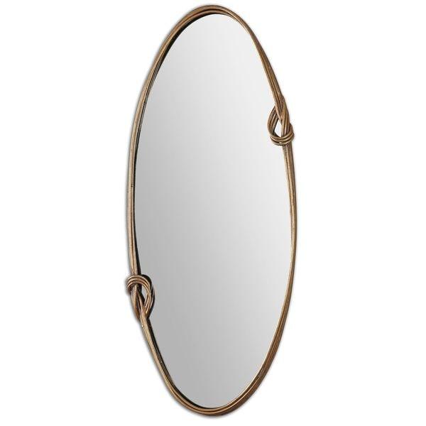 Giacomo Gold Oval Mirror