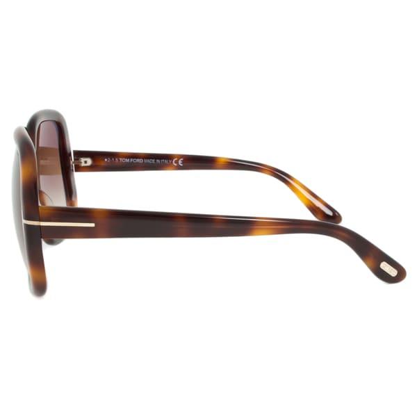 Tom Ford FT0389 52F Valeria Oversized Square Sunglasses