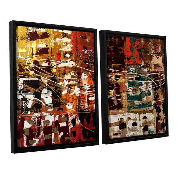 Carmen Guedez's In A Better World, 2 Piece Floater Framed Canvas Set