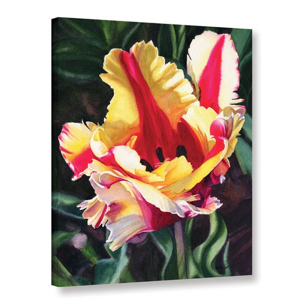ArtWall Kelly Eddington's Blooming Tulip, Gallery Wrapped Canvas