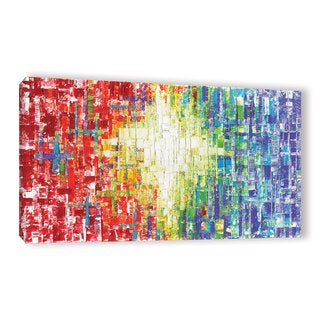 ArtWall Susanna Shaposhnikova's Abs White Multicolor, Gallery Wrapped Canvas