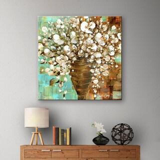ArtWall Susanna Shaposhnikova's White Bouquet, Gallery Wrapped Canvas