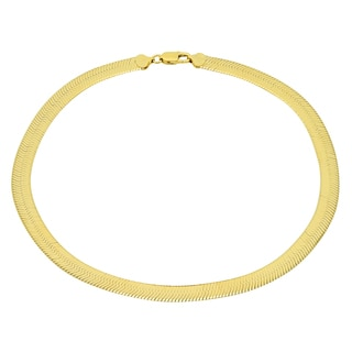 Sterling Essentials 14K Gold over Silver 7 mm Italian Magic Chain (16-20 inches)