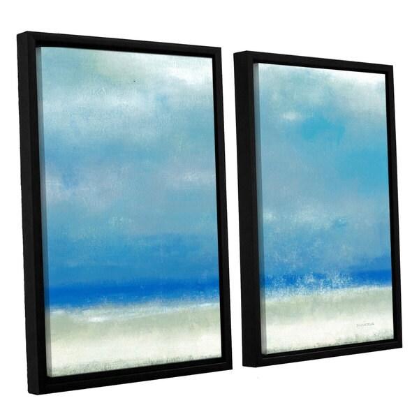ArtWall Norman Wyatt JR's Blue Horizon 1, 2 Piece Floater Framed Canvas Set