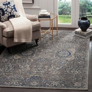 Safavieh Artisan Dark Grey/ Blue Cotton Rug (5'1 x 7'6)