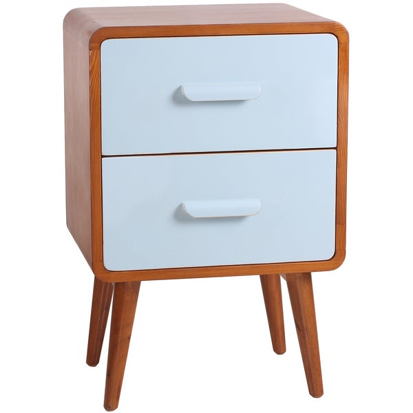 Clark Mid-Century Double-Drawer End Table
