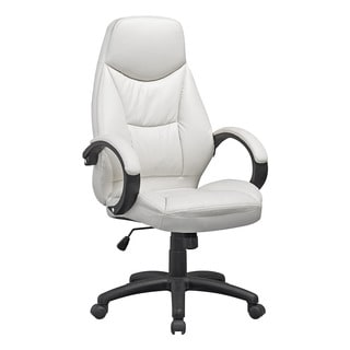 CorLiving White Leatherette Executive Office Chair