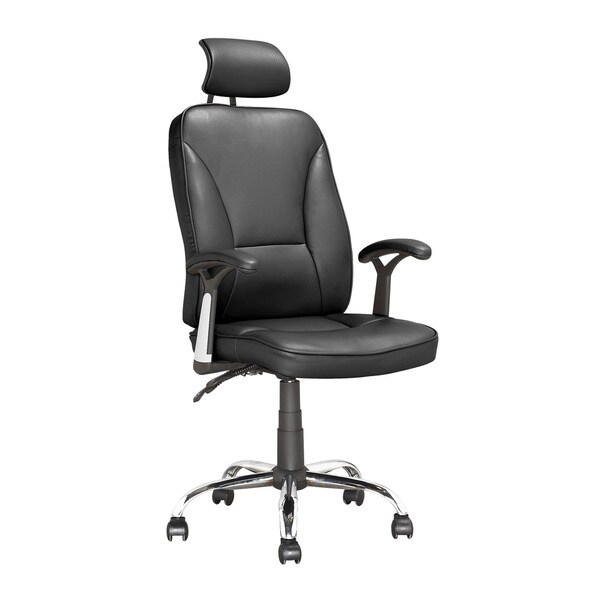 Workspace Executive Tilting Office Chair in Black Leatherette