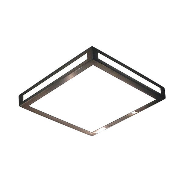 Alico Eurolite 1 Light Flush mount In Metallic Grey With White Opal Diffuser