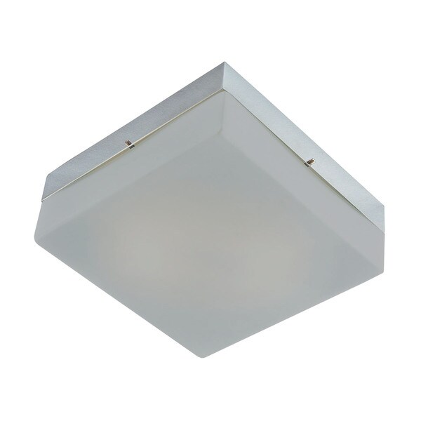 Alico Quad 1 Light Flush mount In Metallic Grey And White Opal Glass
