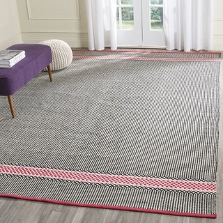 Safavieh Hand-Woven Montauk Light Pink/ Multi Cotton Rug (8' x 10')