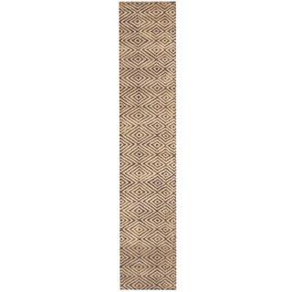 Herat Oriental Indo Hand-tufted Tibetan Navy/ Beige Wool Runner (2' x 9'10)