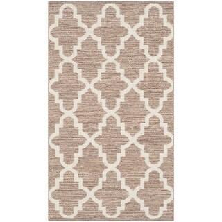 Safavieh Hand-Woven Montauk Beige/ Ivory Cotton Rug (2'3 x 3'9)