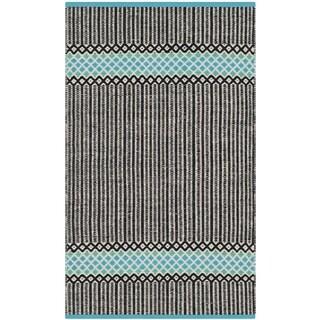 Safavieh Hand-Woven Montauk Turquoise/ Multi Cotton Rug (2'3 x 3'9)