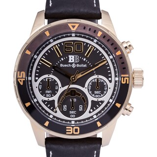 Buech & Boilat San Remo Chronograph Men's Quartz Leather Strap Watch