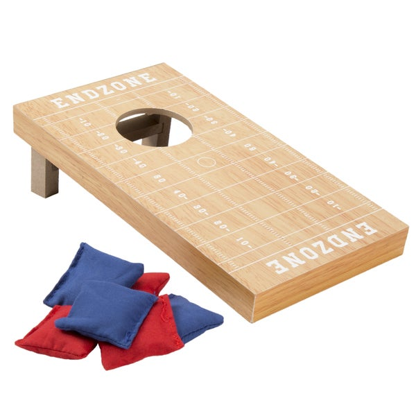 Hey! Play! Tabletop Cornhole Game - Football Field Theme