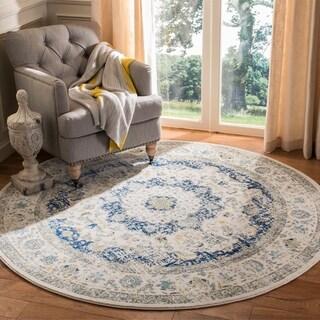 Safavieh Evoke Ivory/ Blue Vintage Area Rug (6'7 Round)