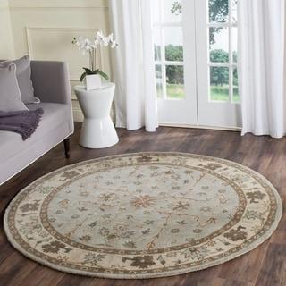 Safavieh Handmade Heritage Green/ Beige Wool Rug (6' x 6' Round)