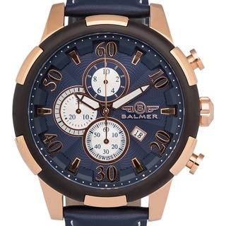 Balmer Mulsanne Swiss Chronograph Quartz Men's Watch Guilloche Textured Dial Luminescent Hands