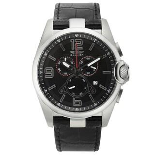 Balmer Veyron Swiss Made Quartz Men's Chronograph Watch 22 MM Genuine Leather Strap