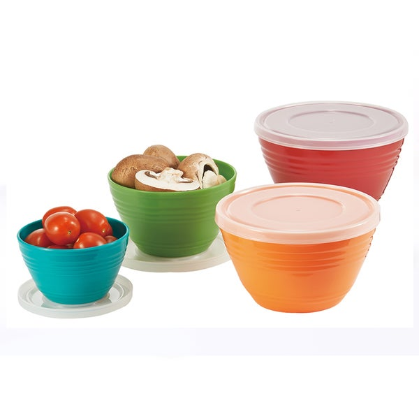 4-piece Melamine Bowl Set with Lids