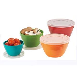 4-piece Melamine Bowl Set with Lids