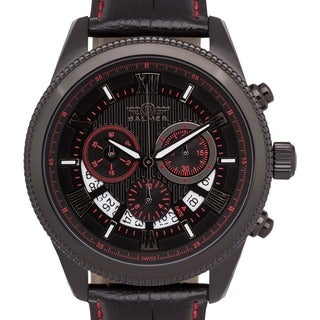 Men's Balmer E-Type Racing-style Swiss Chronograph Custom-milled Bezel Watch