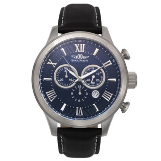 Balmer Gran Turismo Vintage Design Men's Swiss Chronograph Leather Strap