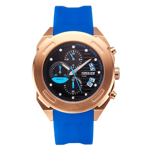 Force One Aitken Chronograph Men's Watch 20 mm Textured Silicone Strap