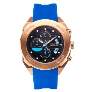 Force One Aitken Chronograph Men's Watch with Multi-textured Split Theme Dial and 20 mm Textured Silicone Strap