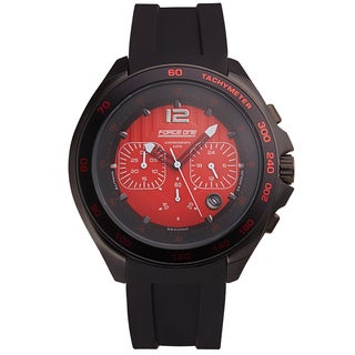 Force One Grand Prix Chronograph Men's Watch Quartz 20 mm Flexible Silicone Strap