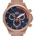 Brandt & Hoffman Bierce Men's Swiss Ronda Z60 Quartz Chronograph Watch with 3-dimensional Honeycomb Textured Dial