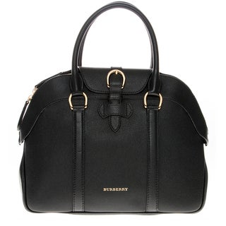 Burberry Bowling Black Leather Medium Handbag