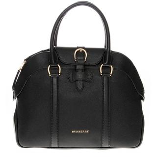 Burberry Bowling Black Leather Medium Handbag