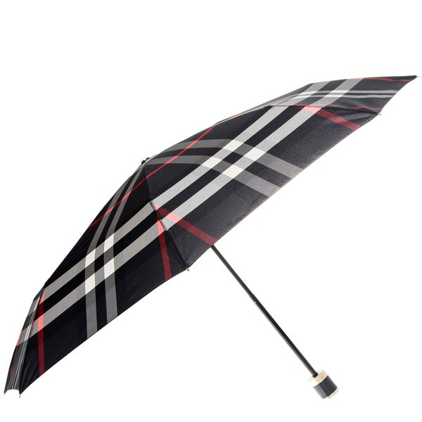 Burberry Navy Check Folding Umbrella