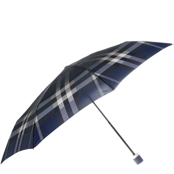 Burberry Blue Check Folding Umbrella